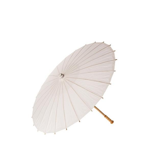 Luna Bazaar Perfect White Premium Paper Parasol