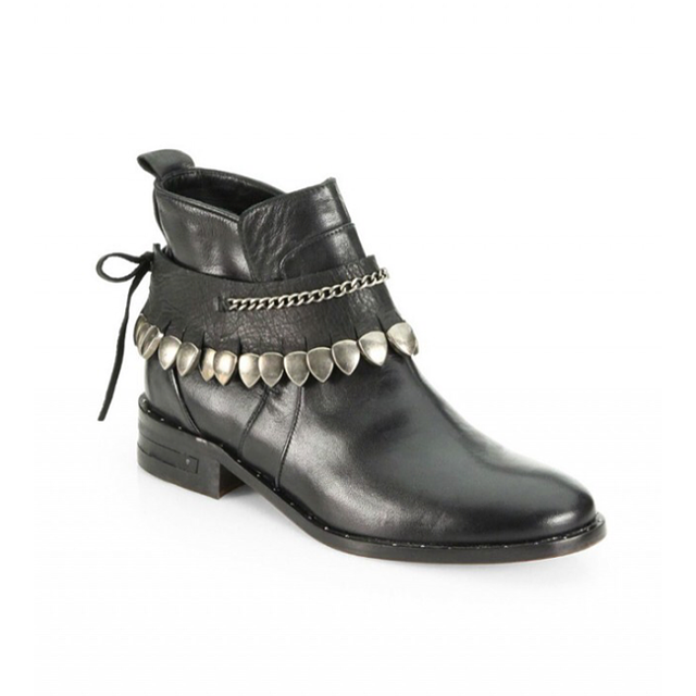 Freda Salvador Comet Chained Leather Ankle Boots