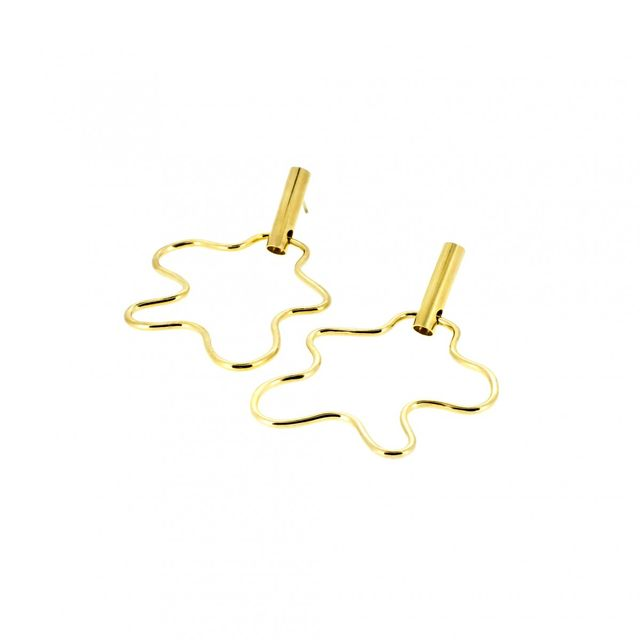 Holly Ryan Gold Squiggle Earrings