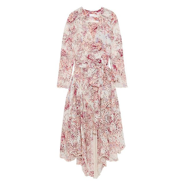 Zimmermann Epoque Printed Broderie Anglaise Dress