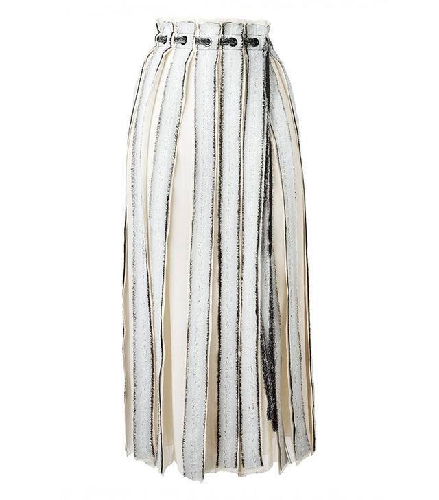 Proenza Schouler Pleated Frayed Skirt