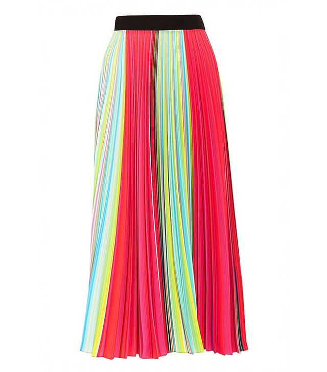 Mary Katrantzou Rainbow Pleated Georgette Skirt