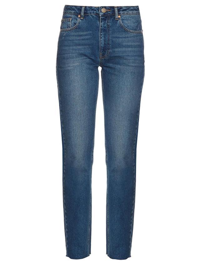 Rail high-rise straight-leg jeans