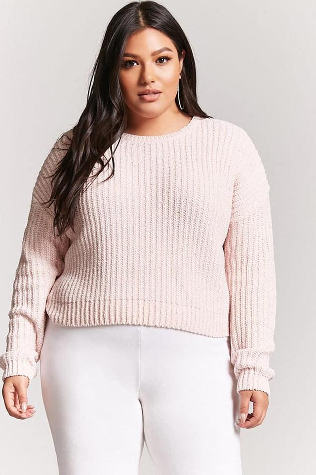 Plus Size Metallic Chenille Sweater