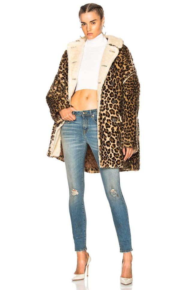 Leopard Huntington Coat