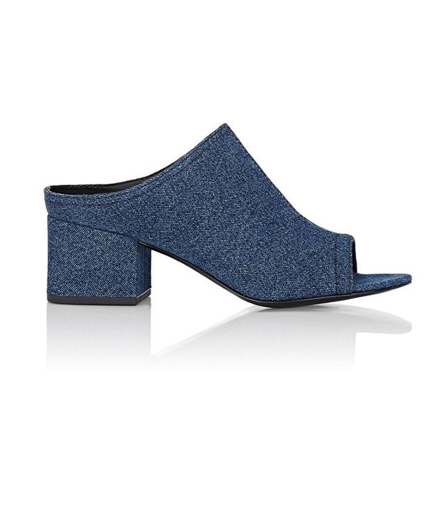 3.1 Phillip Lim Denim Cube Mules