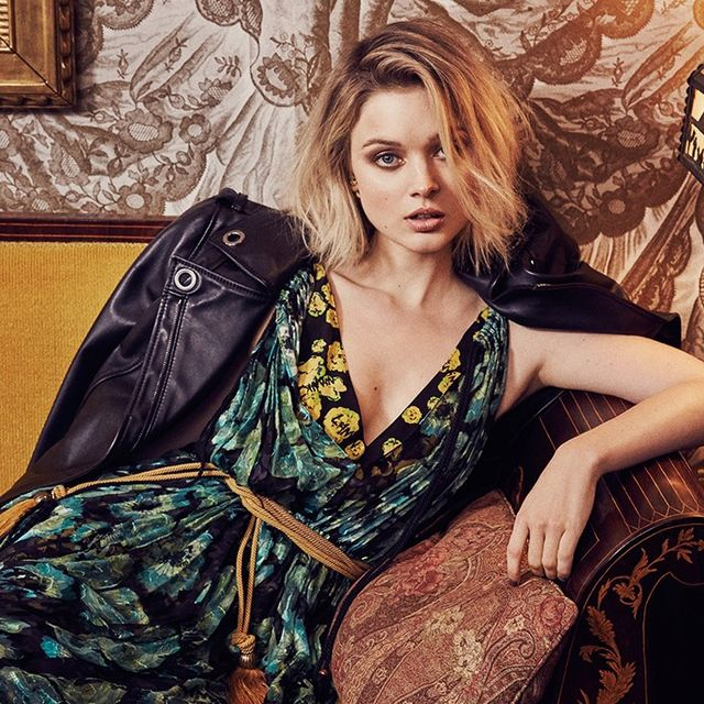 Bella Heathcote Takes on Autumn's Most Valuable Print