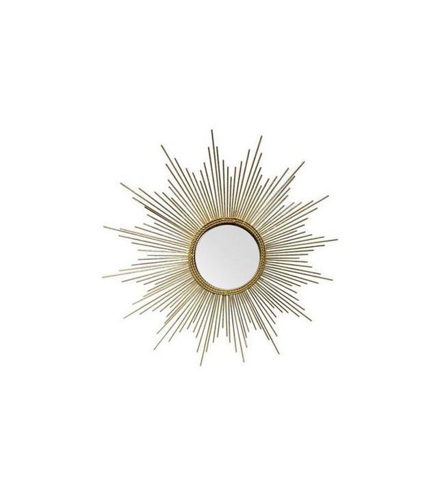 Chairish Art Deco Style Gold Starburst Mirror