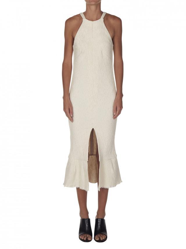 Christopher Esber Sand Dune Boucle Ruffle Dress