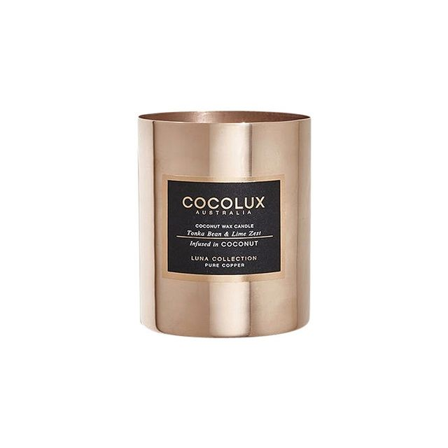 COCOLUX Tonka Bean & Lime Zest Infused in Coconut Wax Candle