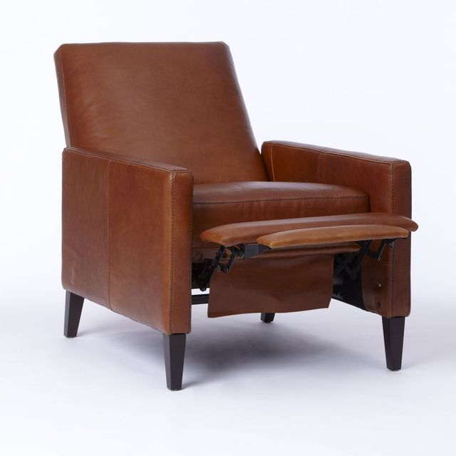 West Elm Supper Club Leather Armchair