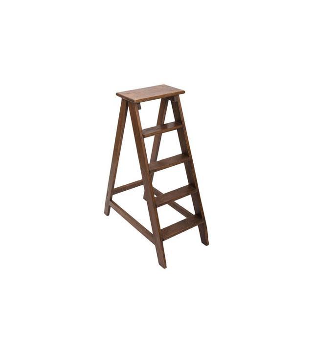 1stdibs Vintage 19th-Century Elm Library Ladder