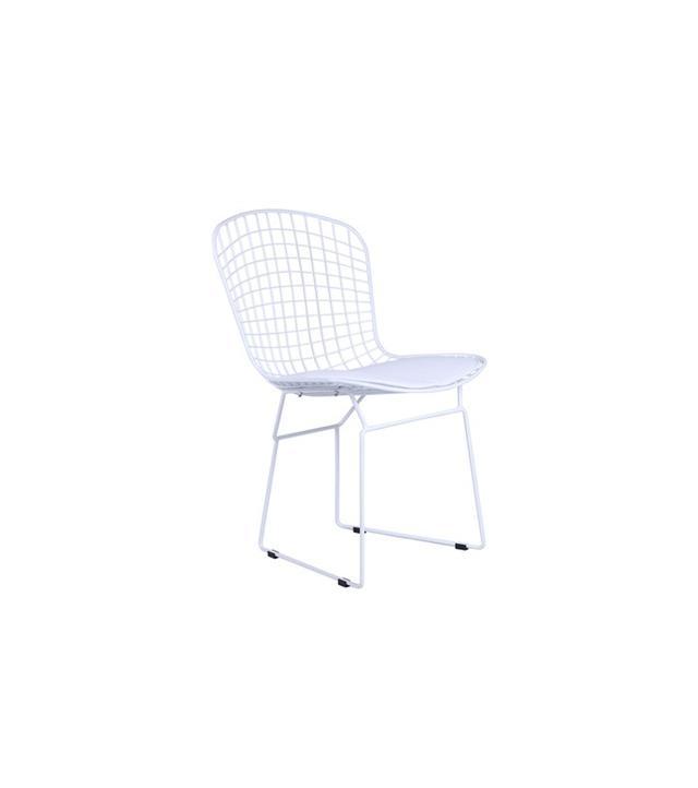 Bertoia White Wire Side Chair