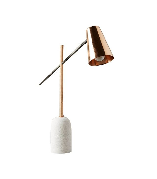 Anthropologie Slanted Copper Table Lamp