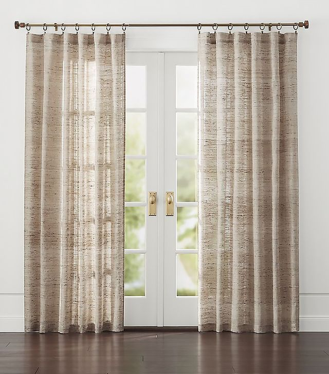 crate and barrel hayden silk curtains - Hanging Drapery