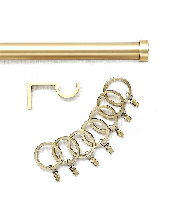 Crate and Barrel Brushed Brass Curtain Hardware