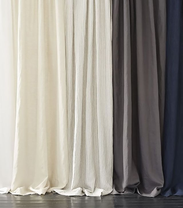 west elm belgian linen curtain - Hanging Drapery