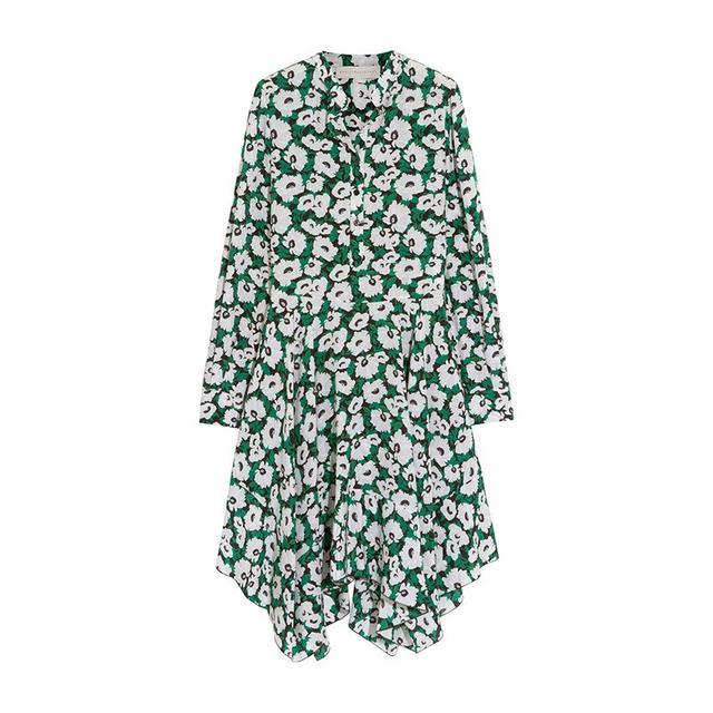 Stella McCartney Rita Floral-Print Silk Crepe Dress
