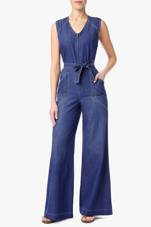7 for All Mankind Wide Leg Denim Jumpsuit