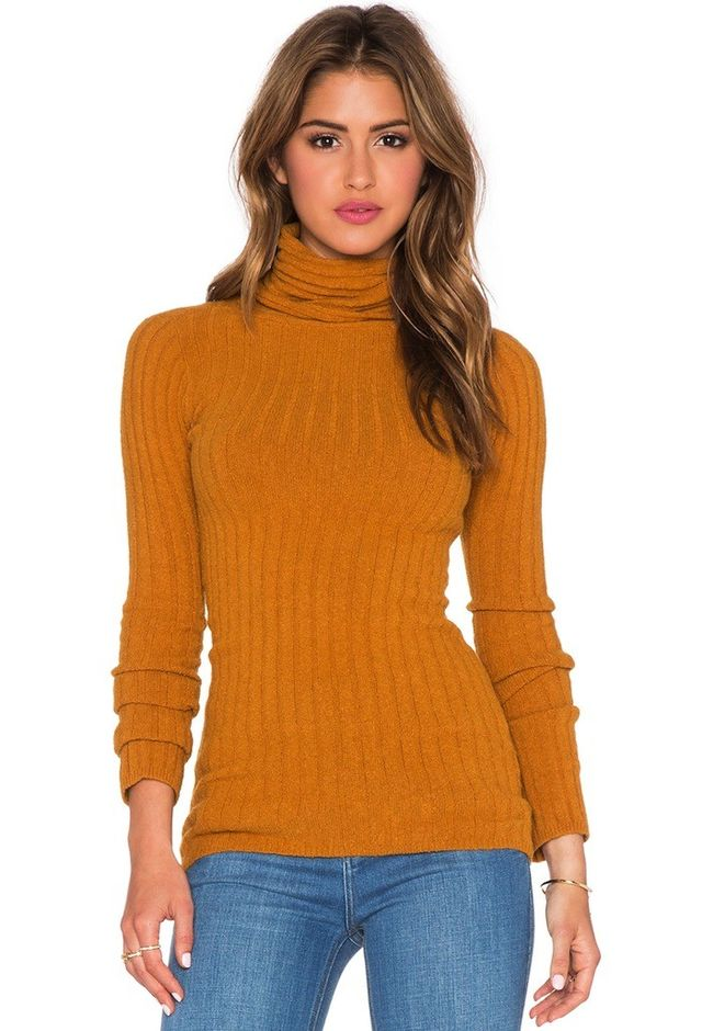 Free People Skinny Mock Neck Sweater