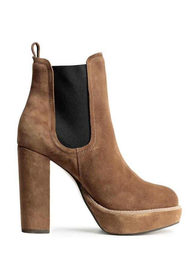 H&M Suede Platform Boots