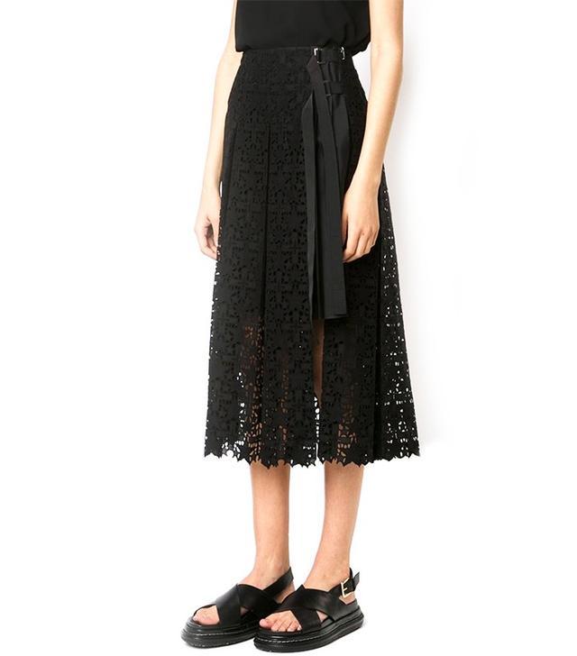 Sacai Star Lace Midi Skirt