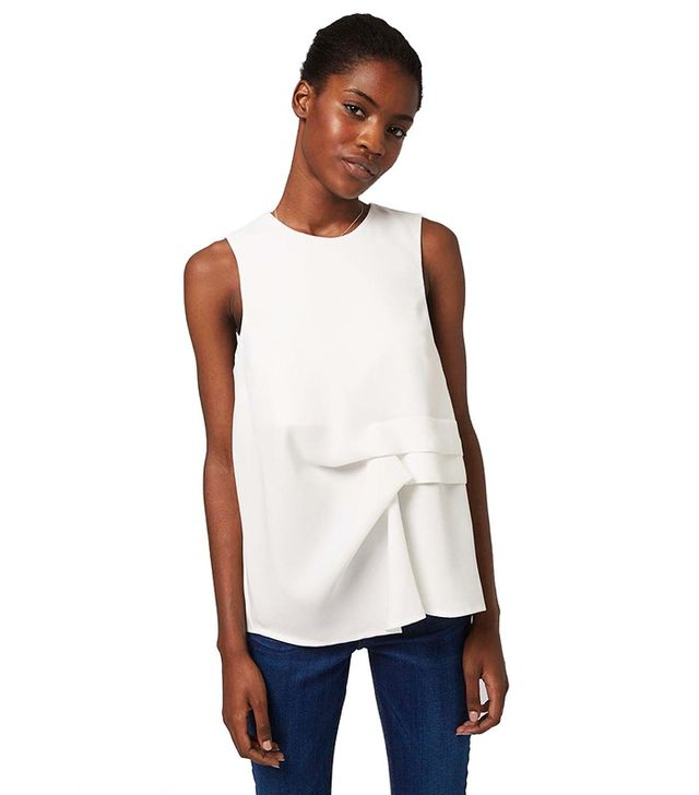 Topshop Sleeve Hitched Shell Top