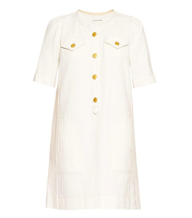 Isabel Marant Étoile Oriane Collarless Denim Dress