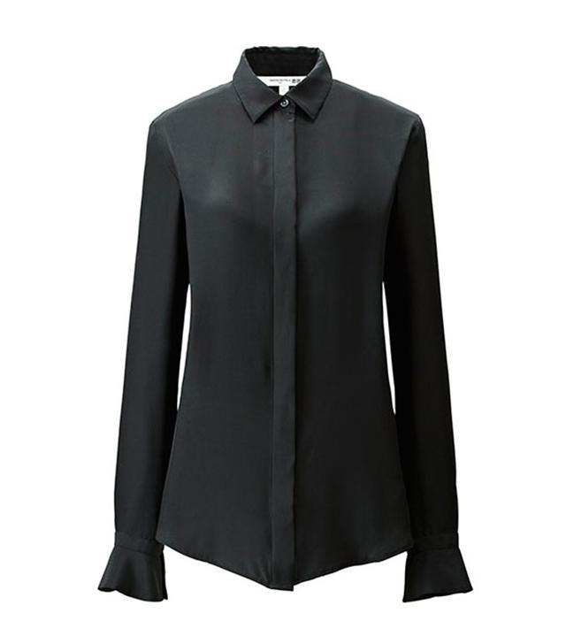 Carine Roitfeld for Uniqlo Silk Long Sleeve Blouse