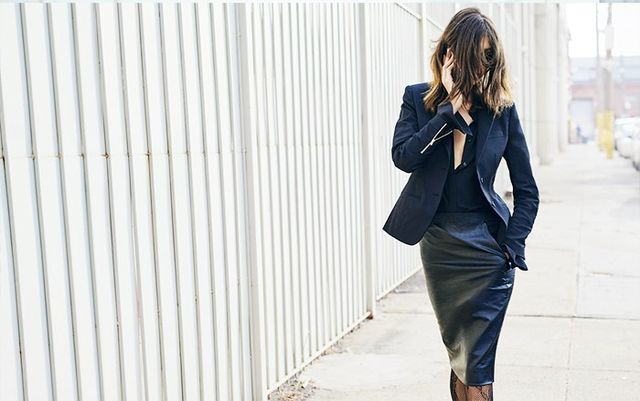 Styling Tip #1: Pull your blouse sleeves out of your blazer cuffs.
