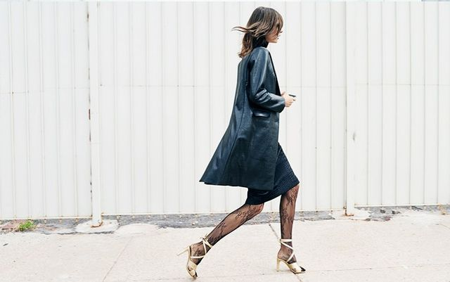 Styling Tip #3: Lace tights go with everything—even sandals.