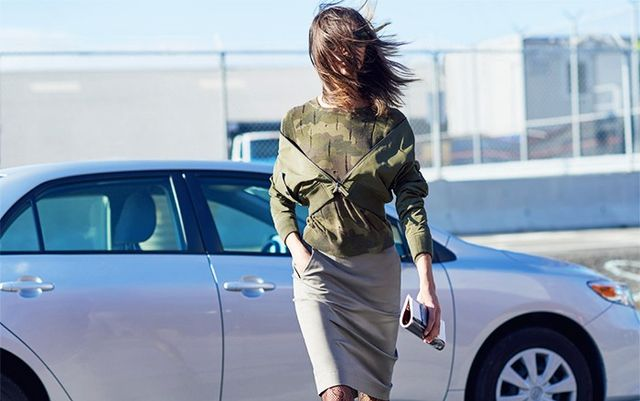 Styling Tip #5: Your jacket should be fastened and shrugged off.