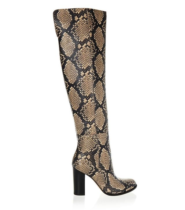 Sam Edelman Rylan Snake-Effect Leather Over-the-Knee Boots