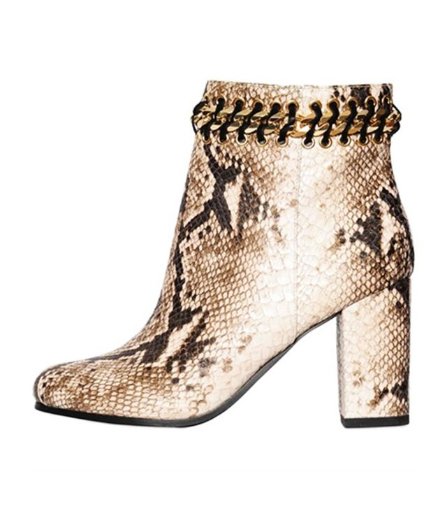 KG by Kurt Geiger Snake Effect Faux Leather Boots