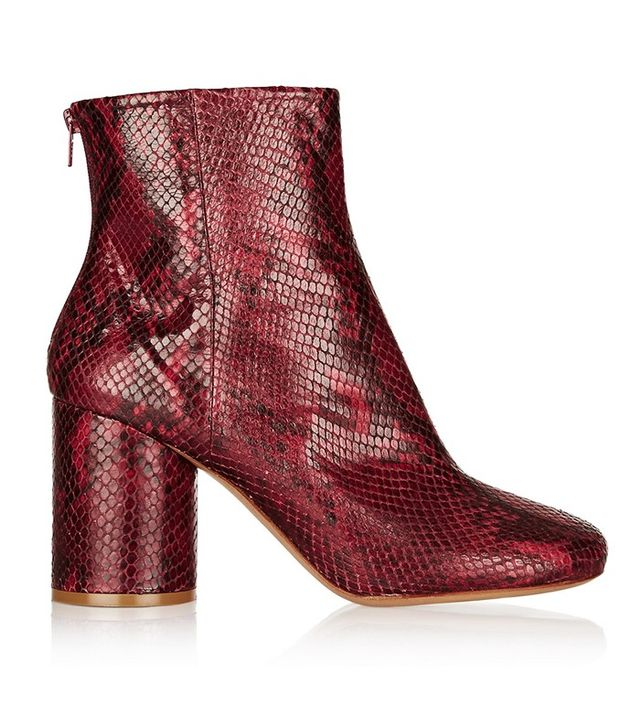 Maison Margiela Snake-effect Leather Ankle Boot