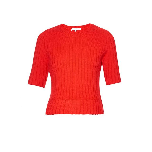 Carven Wool-Blend Ribbed Knit Sweater