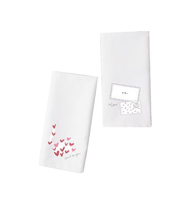 Sur La Table Valentine's Day Tea Towels