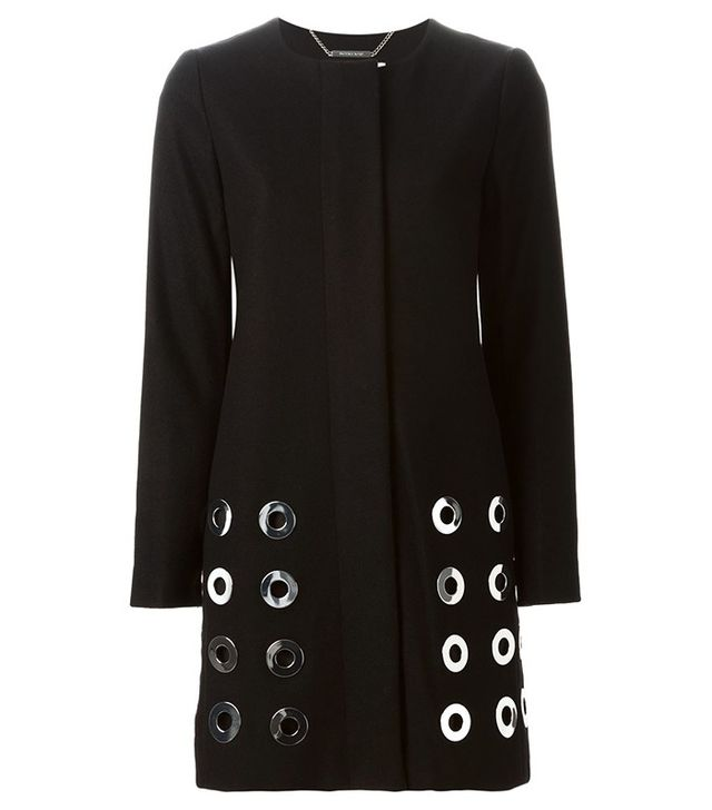 Michael Michael Kors Large Eyelet Detail Coat