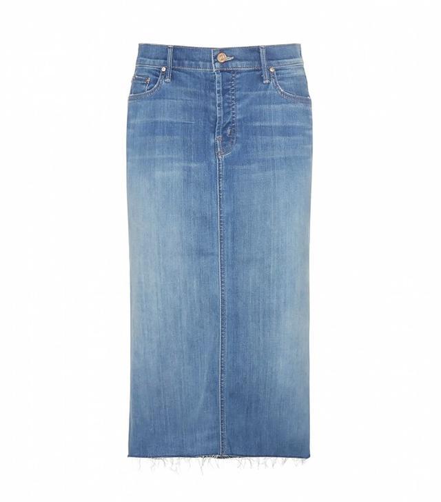 Mother The Back Slit Midi Skirt