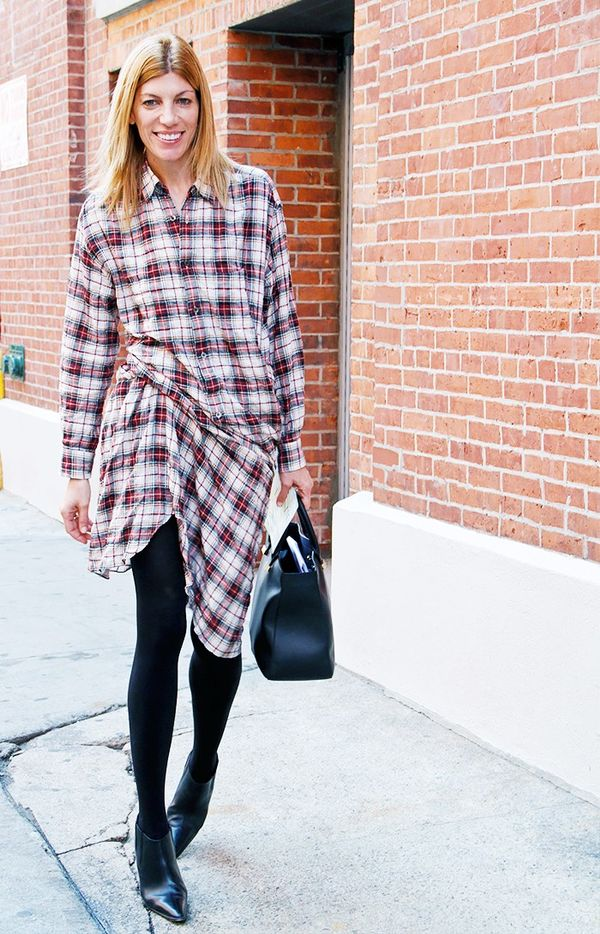 WHO: Virginia Smith We present the Vogue way to wear flannel.