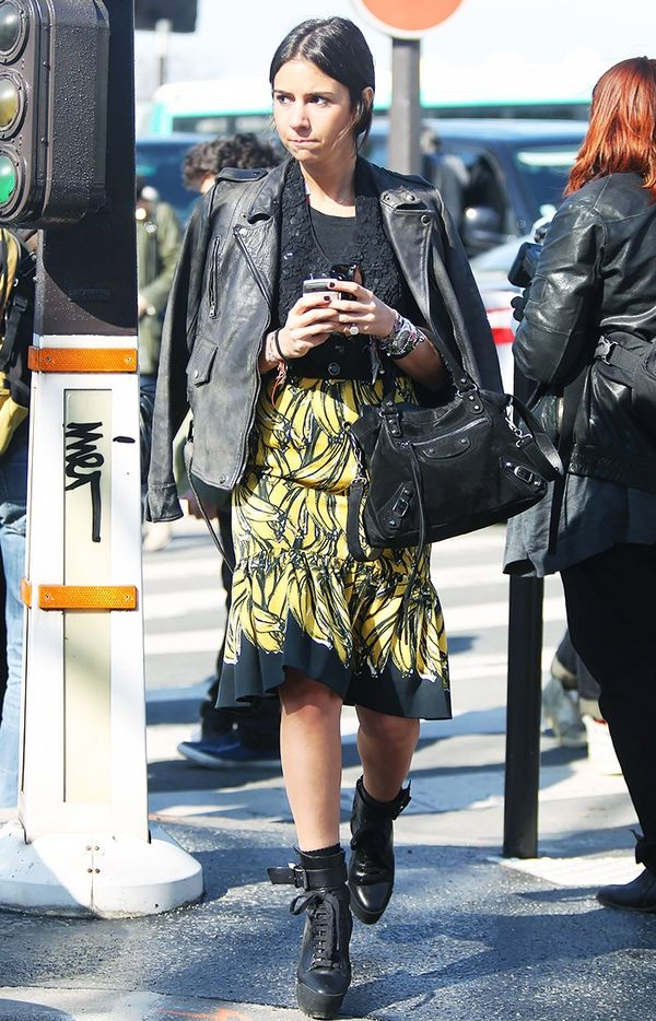 WHO: Natasha GoldenbergOh what we'd give for her Prada banana skirt.