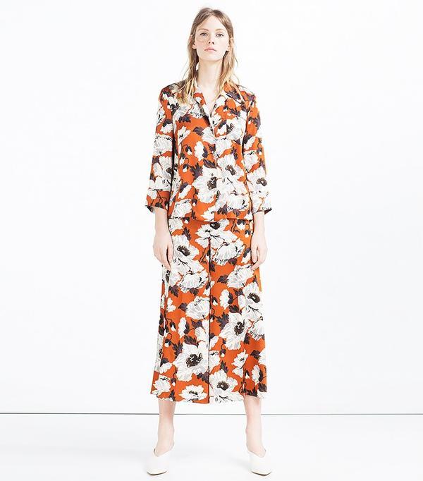 Zara Printed Pajama Style Blouse(£40) and Culottes(£40).