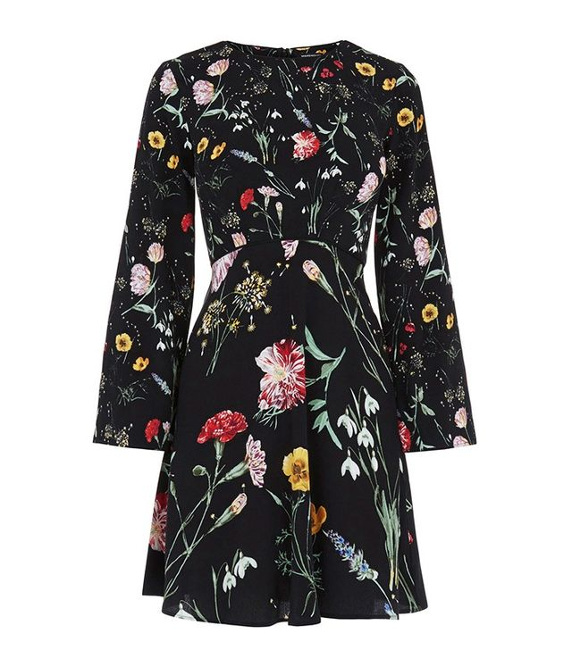 Warehouse Scatter Floral Dress