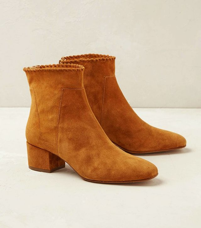 Anthropologie Albin Suede Ankle Boots