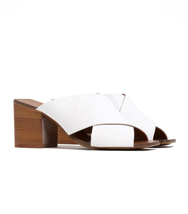 Zara Crossover Sandals With Heel