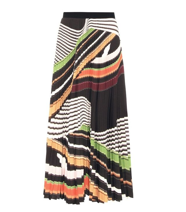Mary Katrantzou Pleated Printed Skirt