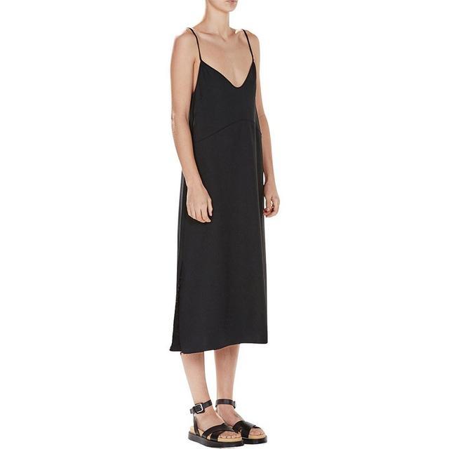 Bassike Crepe Raw Slip Dress