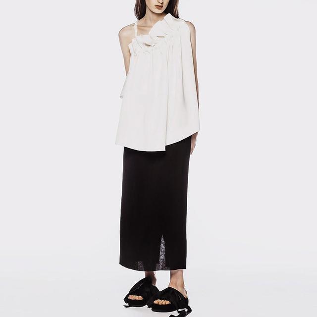 Ellery Litty High Waist Column Skirt