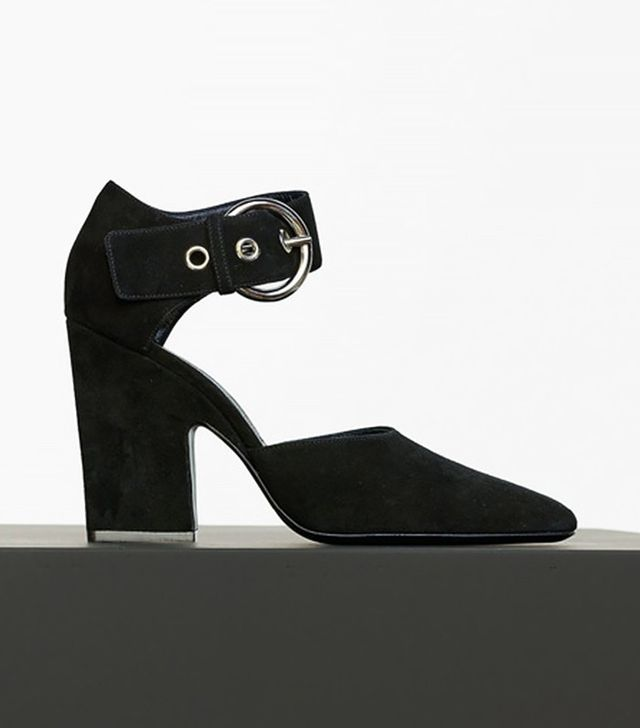 Céline Curved Heel Mary Jane Pumps
