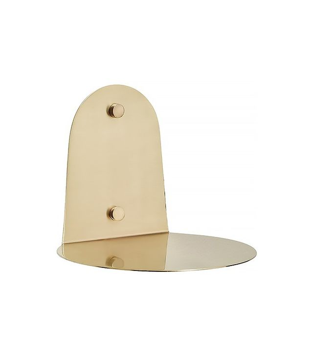 CB2 Portal Brushed Gold Shelf